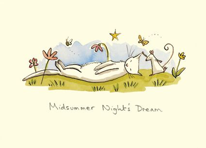 M77 MIDSUMMER NIGHTS DREAM - a Two Bad Mice card by anita Jeram