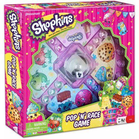Pressman Toy Shopkins Pop N Race Game Classic Game With Shopkins Theme Walmart Com Classic Games Shopkins Shopkins Birthday Party