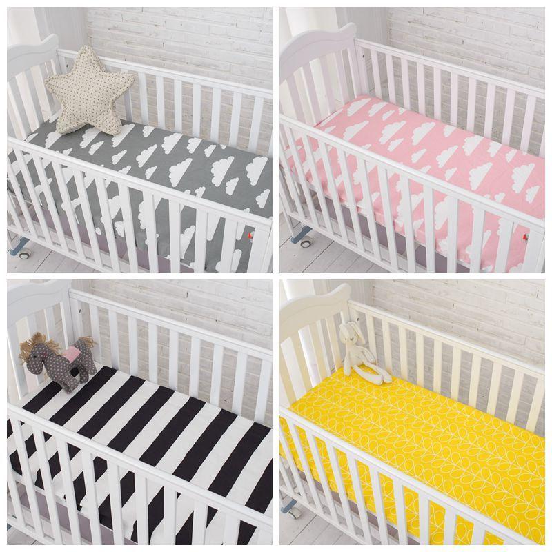 Matras Baby Bed.Muslinlife Katoenen Baby Hoeslaken Cartoon Wieg Matras Protector