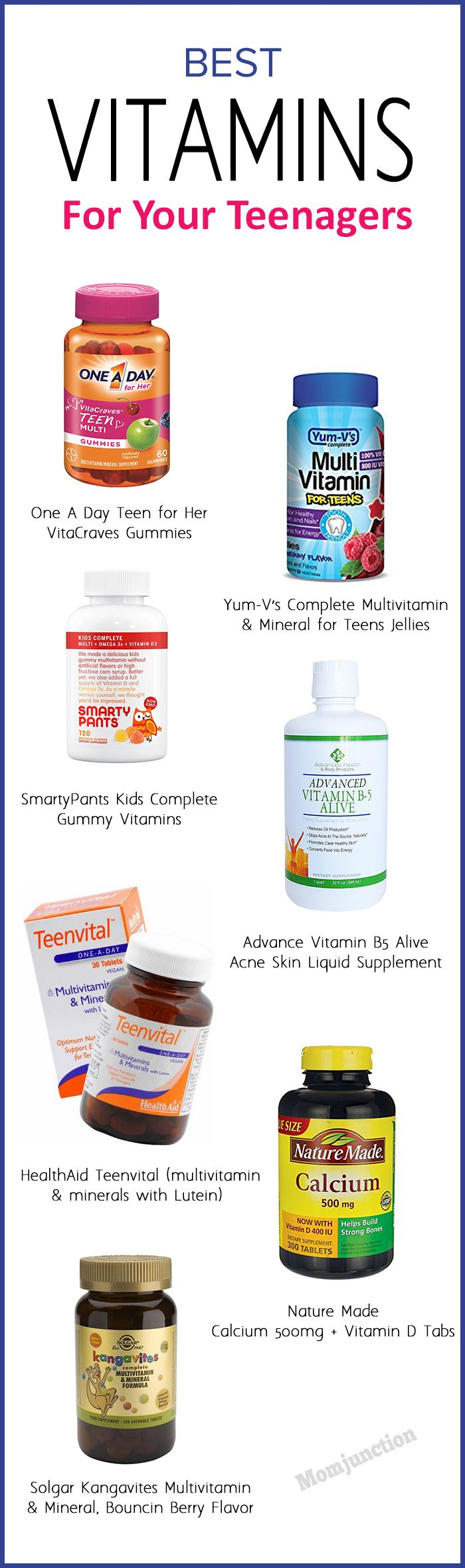 21 Most Essential Multi Vitamins For Teens (Growth Wise) #vitamins