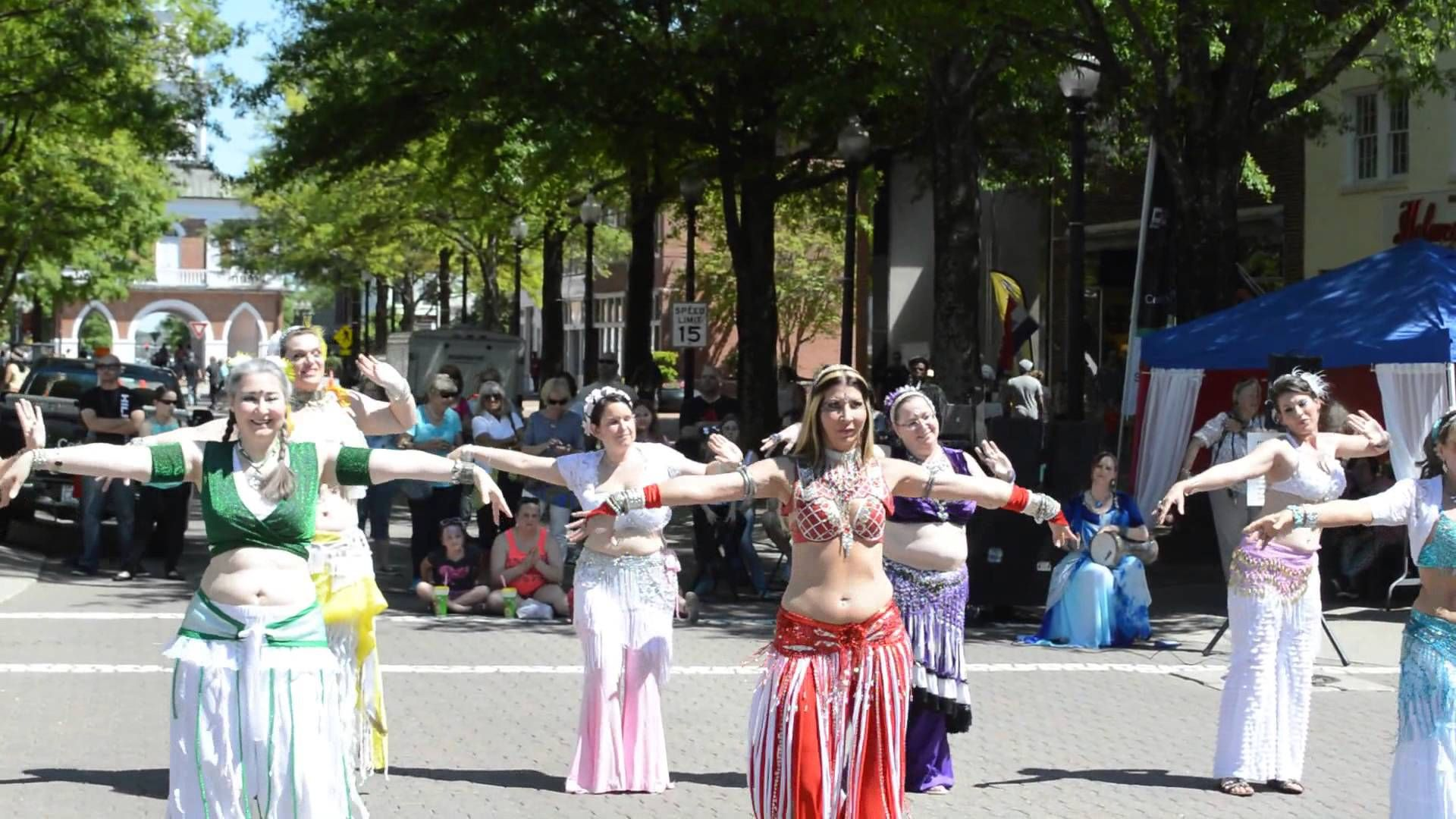 2014 Fayetteville Dogwood Festival Belly Dancing Street Performance Street Performance Belly Dance Fayetteville