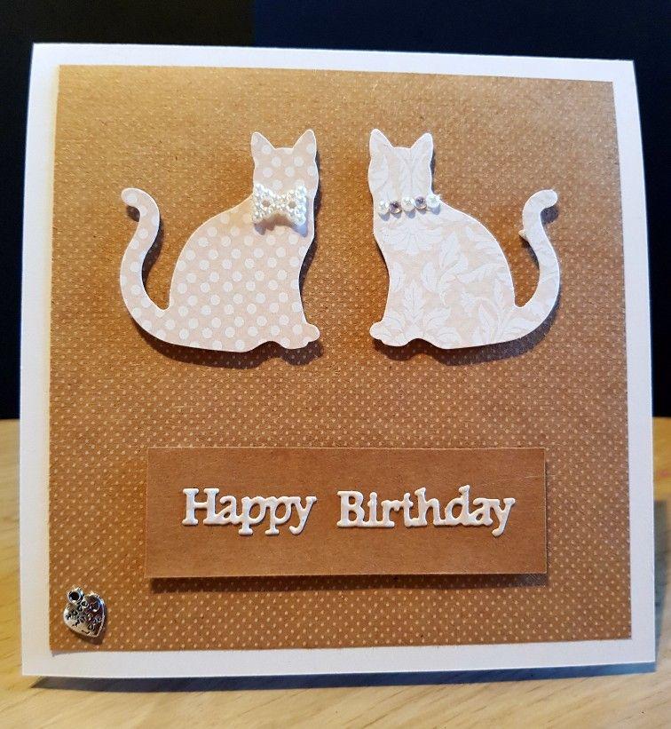 Cat Birthday Card Cat Birthday Card Homemade Birthday Cards Simple Birthday Cards