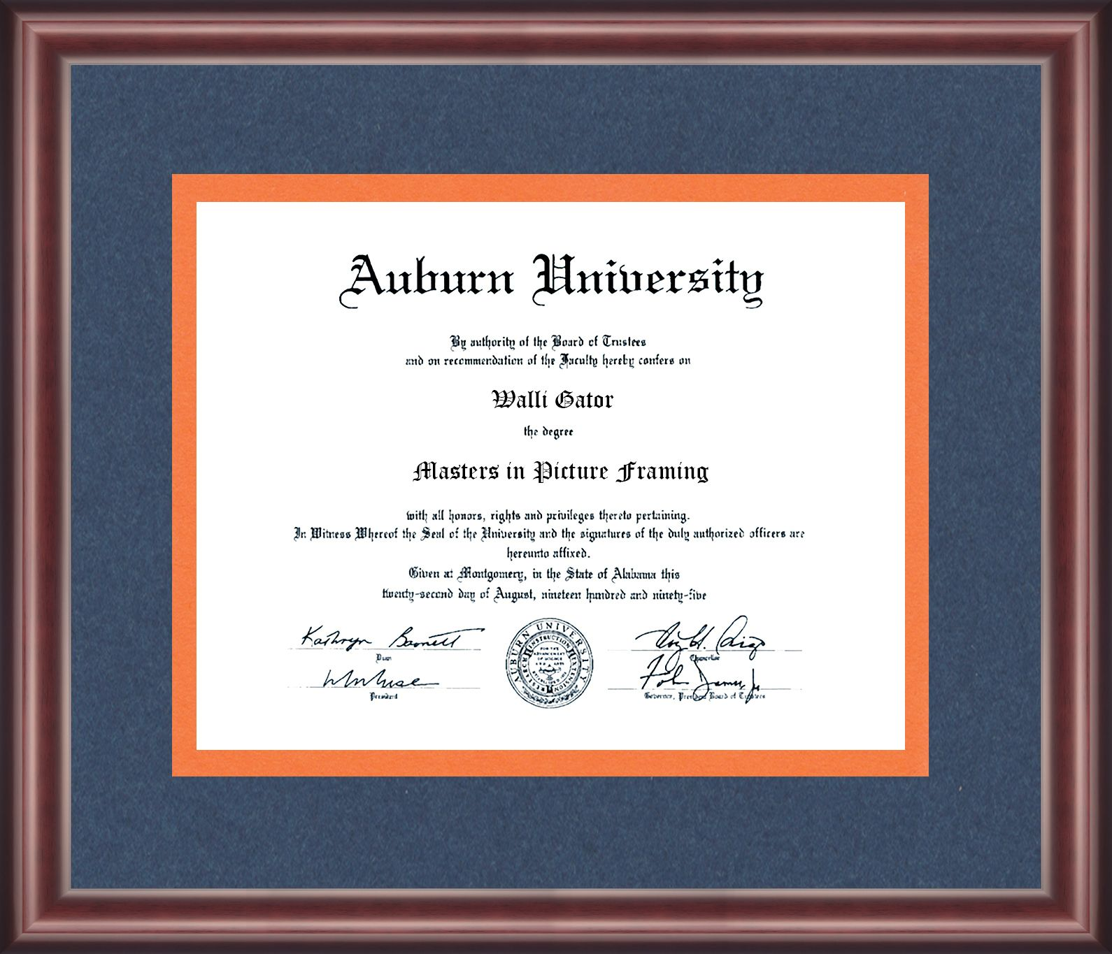 Auburn University Diploma Frame Talking Walls Diploma Frame Frame University Diploma