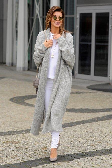 Dlugi Kardigan Z Czym Nosic Modny Sweter Do Kolan Trendy W Modzie Fashion Womens Fashion Fashion Trends