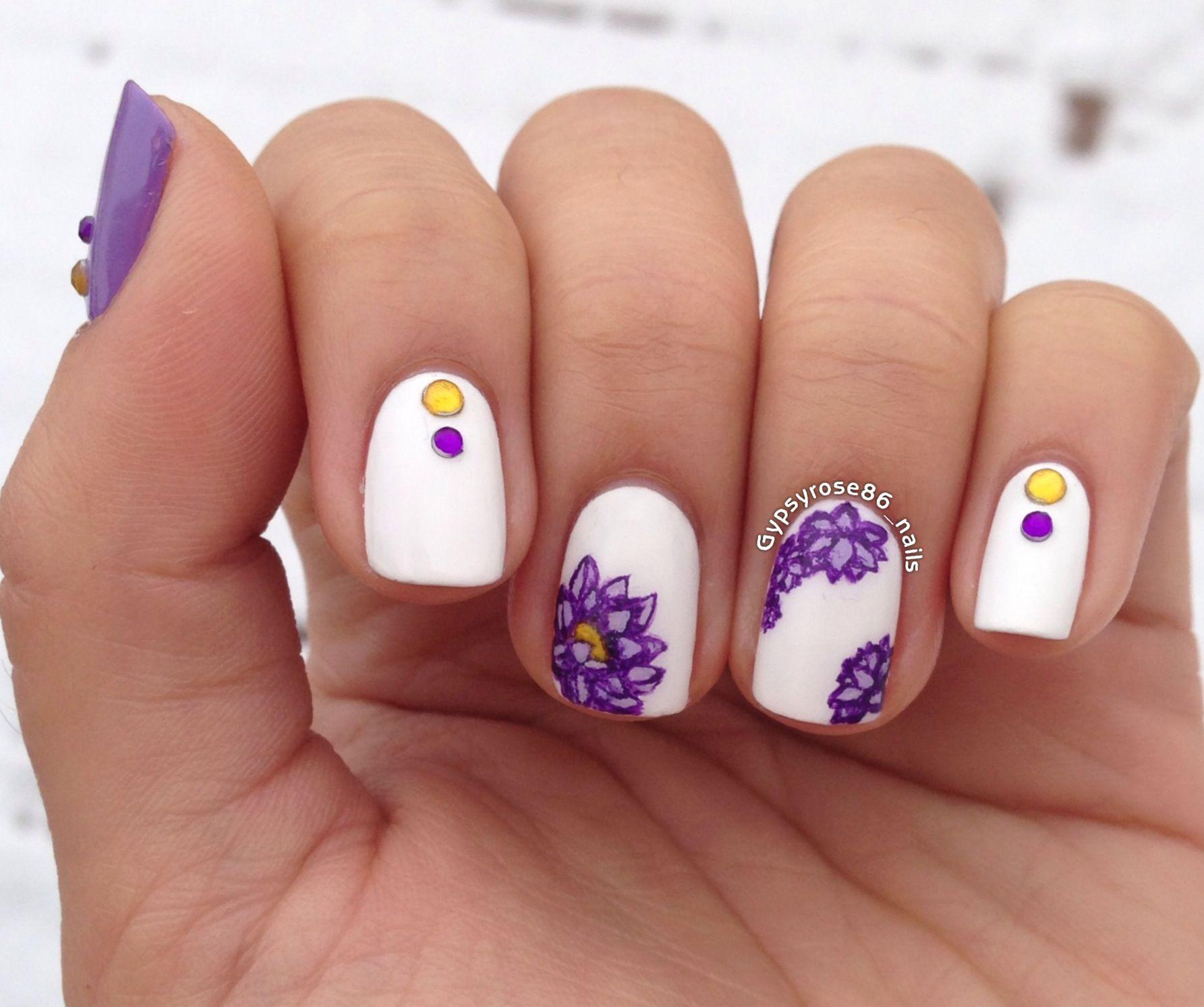 Purple lotus nails | Nails! | Pinterest | Lotus and Makeup