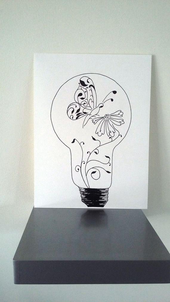 Affiche Illustration Noir Et Blanc Ampolla Douceur