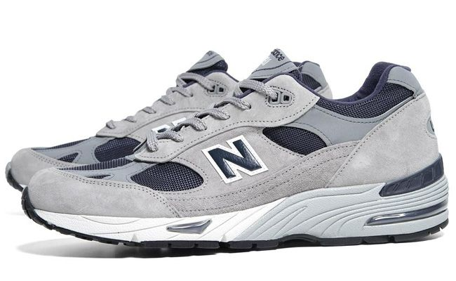 New Balance 991 Made In Usa Grey Navy Kicksonfire Com Sneakers Men Fashion New Balance Sneakers Men