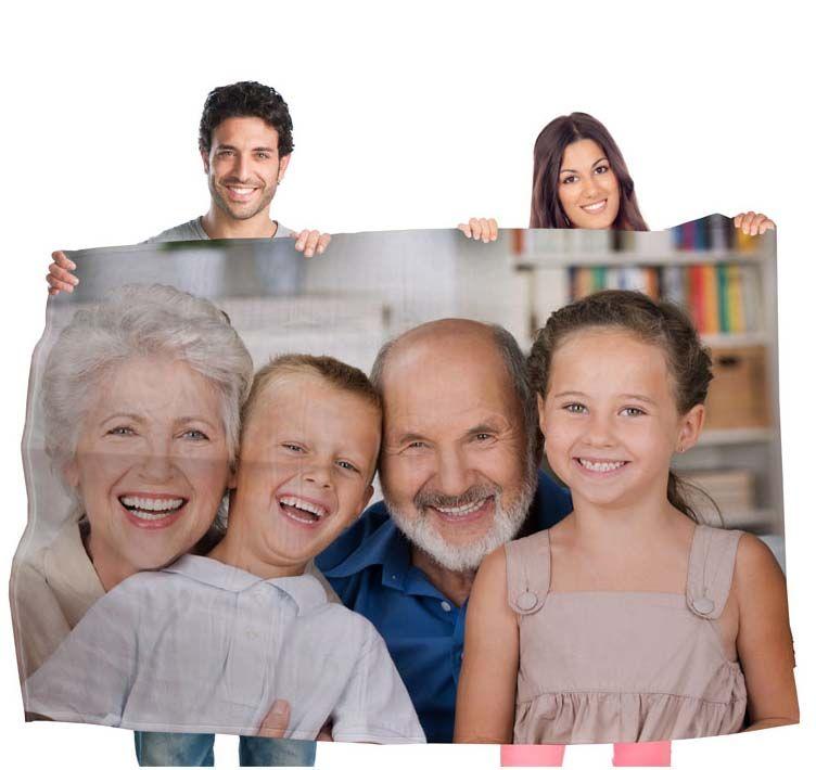 Manta personalizada con una foto a doble cara