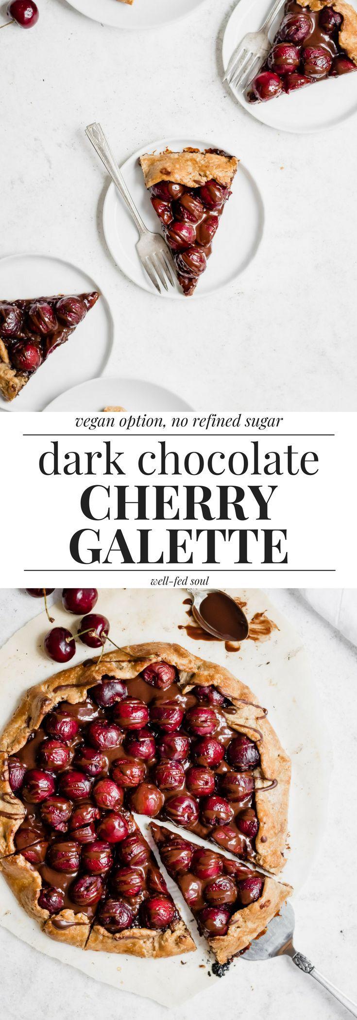 Easy Dark Chocolate Cherry Galette | Recipe | Dessert ...