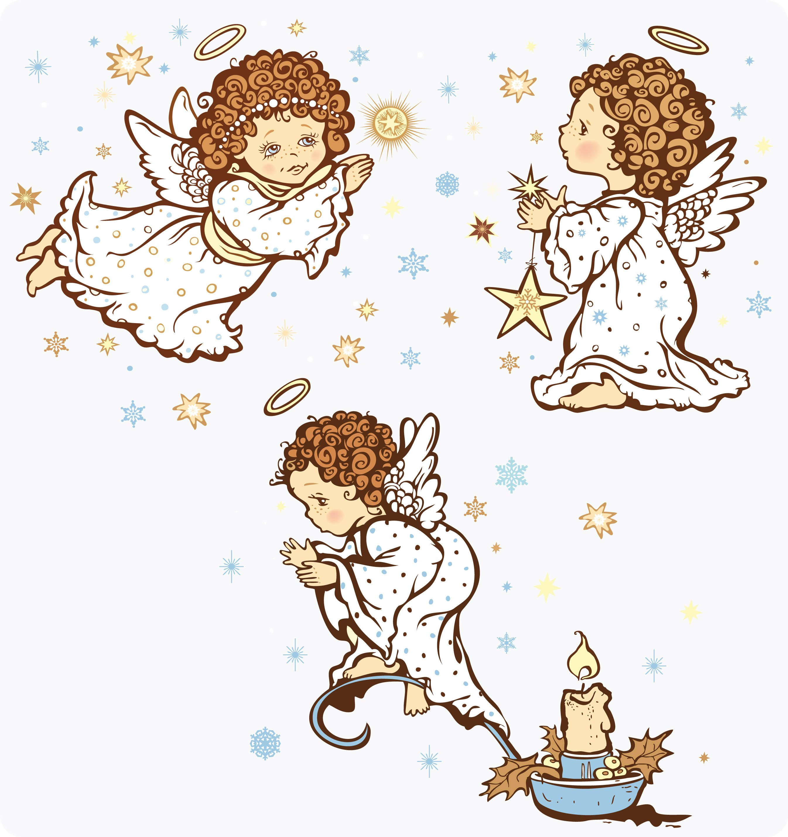 free vector Cartoon angel vector graphic available for