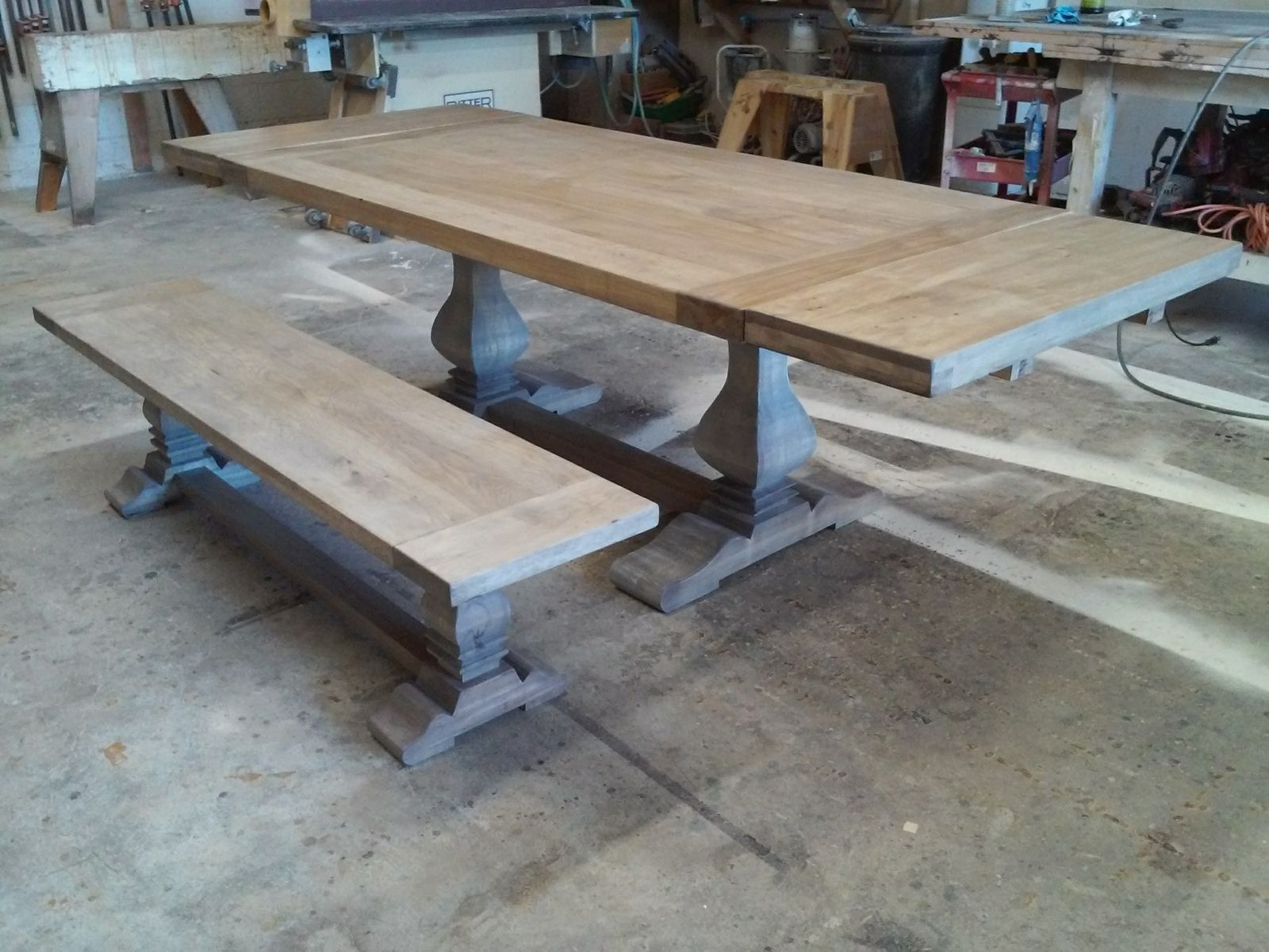 Custom Made Trestle Table Also Available In Cerused Oak