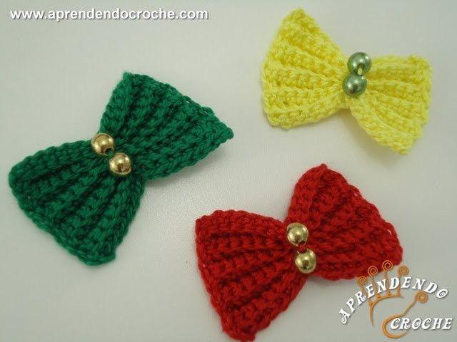 Lacinhos de Crochê Menina Bonita- Aprendendo Crochê
