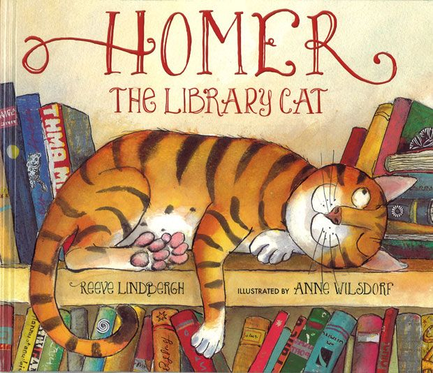 """Homer the Library Cat © Anne WILSDORF (Artist. Angola - Switzerland). """"Reeve Lindbergh's cheerful, rhyming text pairs with Anne Wilsdorf's charming illustrations for a story-lover's ode to everyone's favorite quiet place."""" .... Give credit where due. Please keep attribution & source URL when repinning or  posting to other social media (ie blogs, twitter, tumblr etc). -pfb ... See: http://pinterest.com/about/etiquette/ http://www.pinterestnews.org/2012/06/23/beginner"""