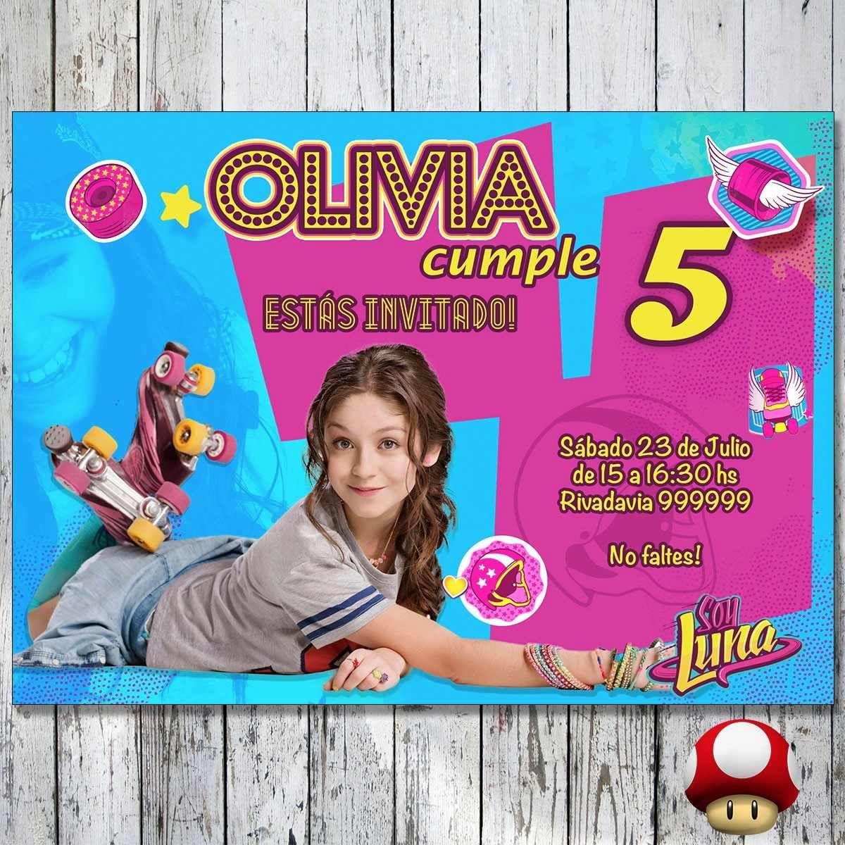 Personalizar Tarjetas De Cumpleaños Gratis Soy Luna Buscar
