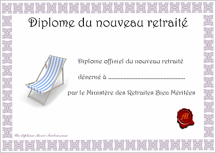 diplome gratuit depart a la retraite a imprimer evjf pinterest retraite depart retraite. Black Bedroom Furniture Sets. Home Design Ideas