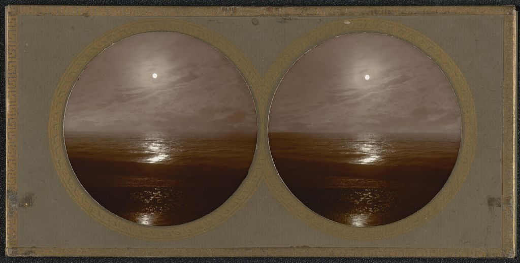 Moonlit Sea. Wick, Near Arundel, England, by John Harmer, c. 1860; Collodion-on-Glass