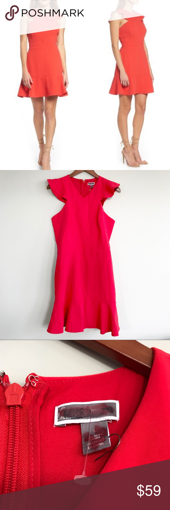 Chelsea 28 Red Cross Front Ruffle Dress Front Ruffle Dress Dresses Clothes Design [ 1740 x 580 Pixel ]