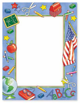 headshot border template - free online teacher stationery templates google search