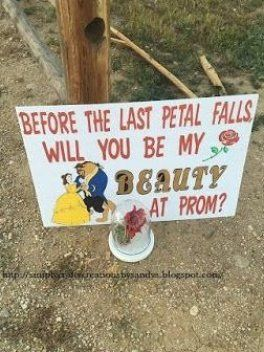 Simply Crafty Creations by Sandy S  #beautyandthebeast #beautyandthebeastprom #cricut #prom #seniorprom  #promproposal #papercrafts #disney