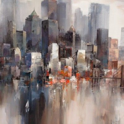Tableau de New York - AUTOUR D\'UN CADRE - Encadrement - Peinture ...