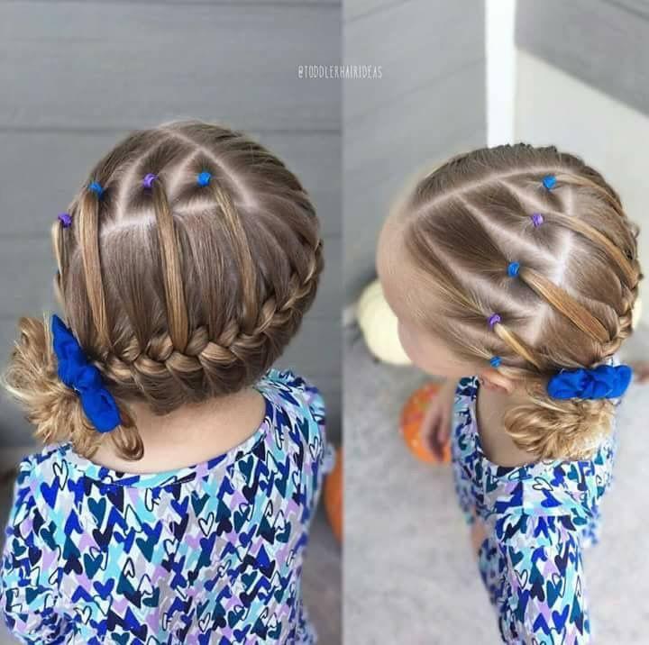 peinados con ligas para nias peinados fciles para nios peinados escolares moos de trenza trenzas pelo de nios peinado sencillo pelo trenzado - Peinados De Ninas