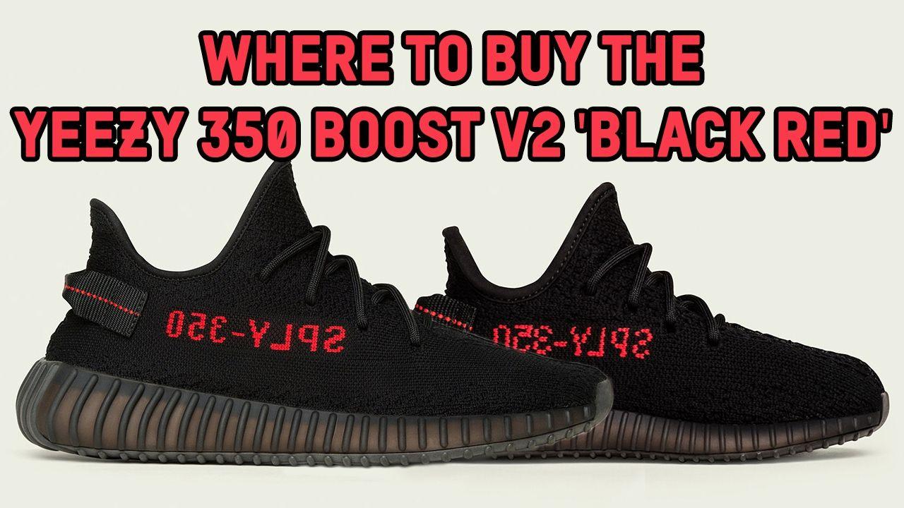 Video: donde comprar los adidas Yeezy Boost 350 V2 criado negro rojo