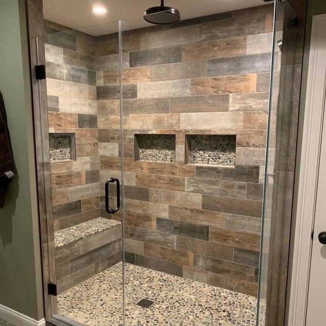 Rustic Bathroom Shower Tile, Custom Bathroom Showers