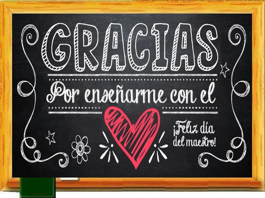 PIZARRA   Feliz dia del maestro, Agradecimiento a ...