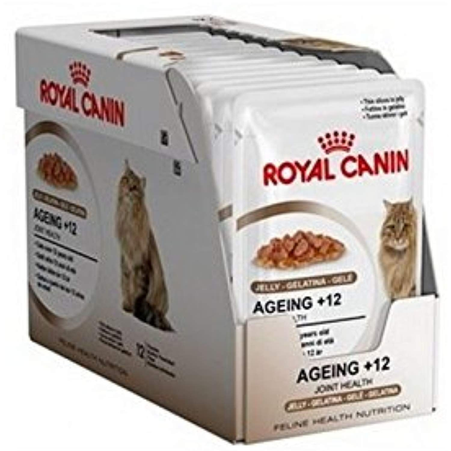 Royal canin ageing 12 cat food jelly pouch 12x85g 102kg