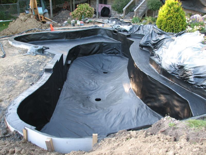 Koi ponds designs koi pond construction design for Diy pond liner ideas