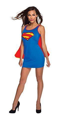 Rubieu0027s Costume Co Womenu0027s DC Superheroes Supergirl Dress with Cape  sc 1 st  Pinterest & Rubieu0027s Costume Co Womenu0027s DC Superheroes Supergirl Dress with Cape ...