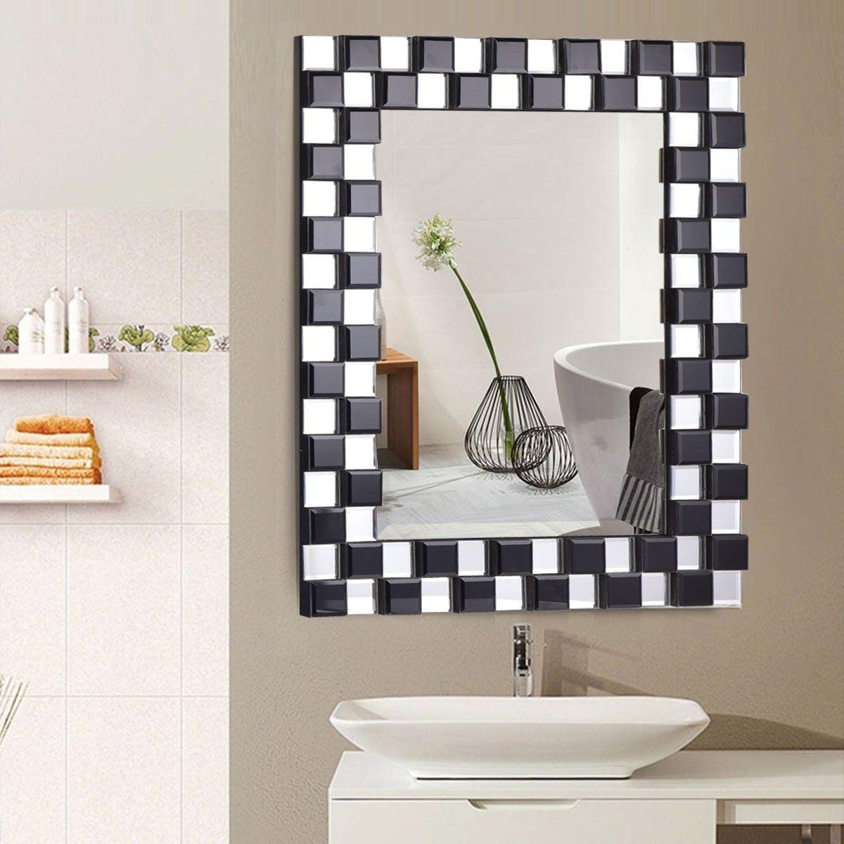 23 5 X 31 5 Rectangular Wall Mounted Wooden Frame Bathroom Mirror Decorative Bathroom Mirrors Bathroom Mirror Frame Rectangular Bathroom Mirror