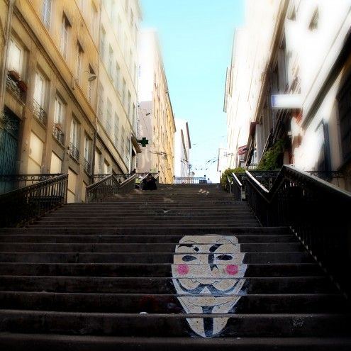 Don Mateo Anonymous Escalier Lyon 1er Arte Urbano Arte Urbano