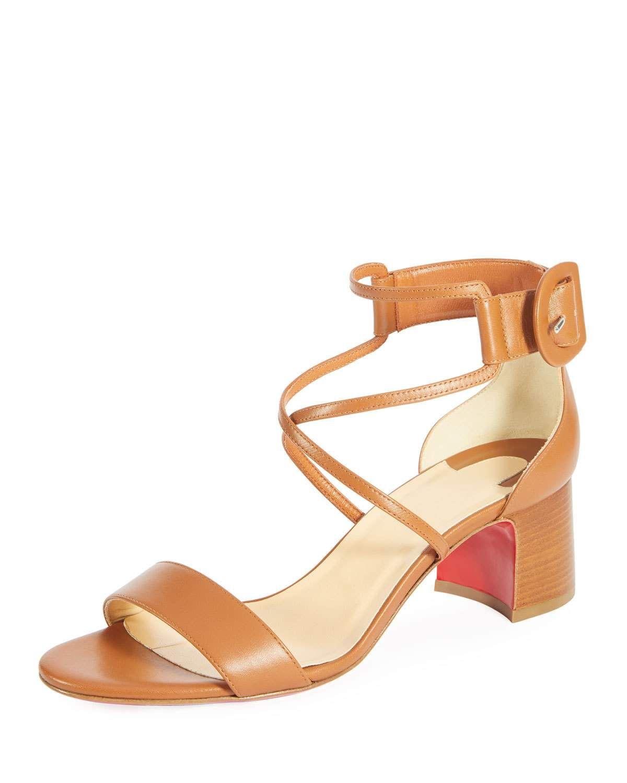 78344e7302e Christian Louboutin Choca 55mm Calf Leather Red Sole Sandal ...