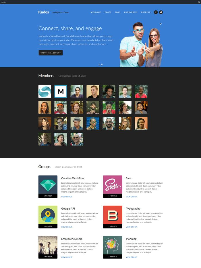 20 Best BuddyPress WordPress Themes for Social Community Visit ...
