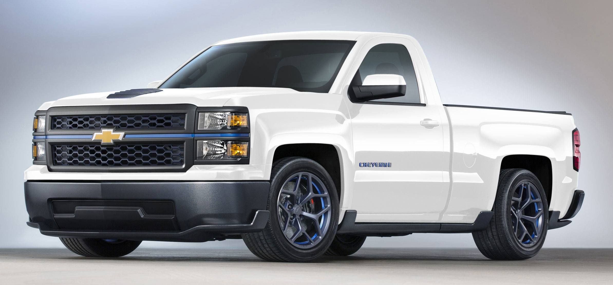 2014 chevrolet silverado cheyenne concept in summit white