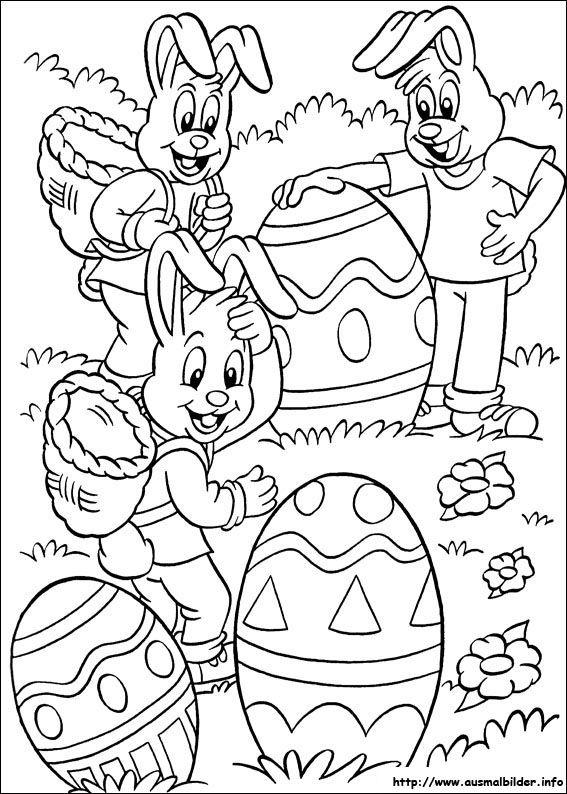 Ostern Ausmalbild Malbilder Pinterest