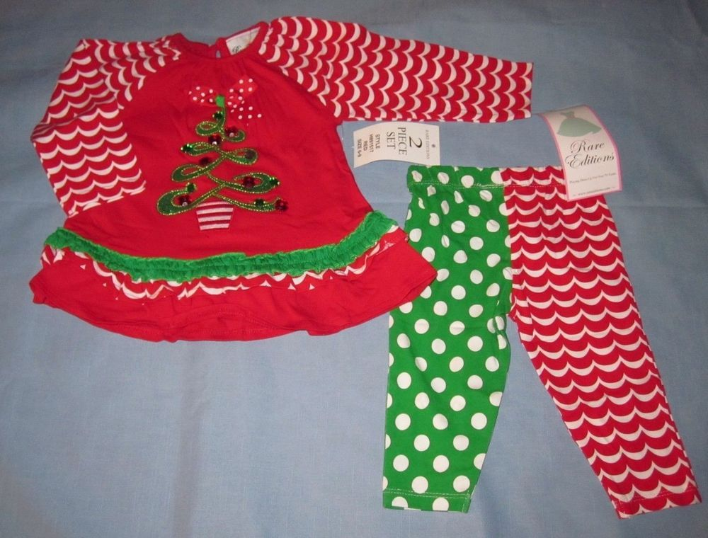Rare Editions Christmas Toddler.Rare Editions Christmas Tree 2 Piece Set Size 6 9m Nwt