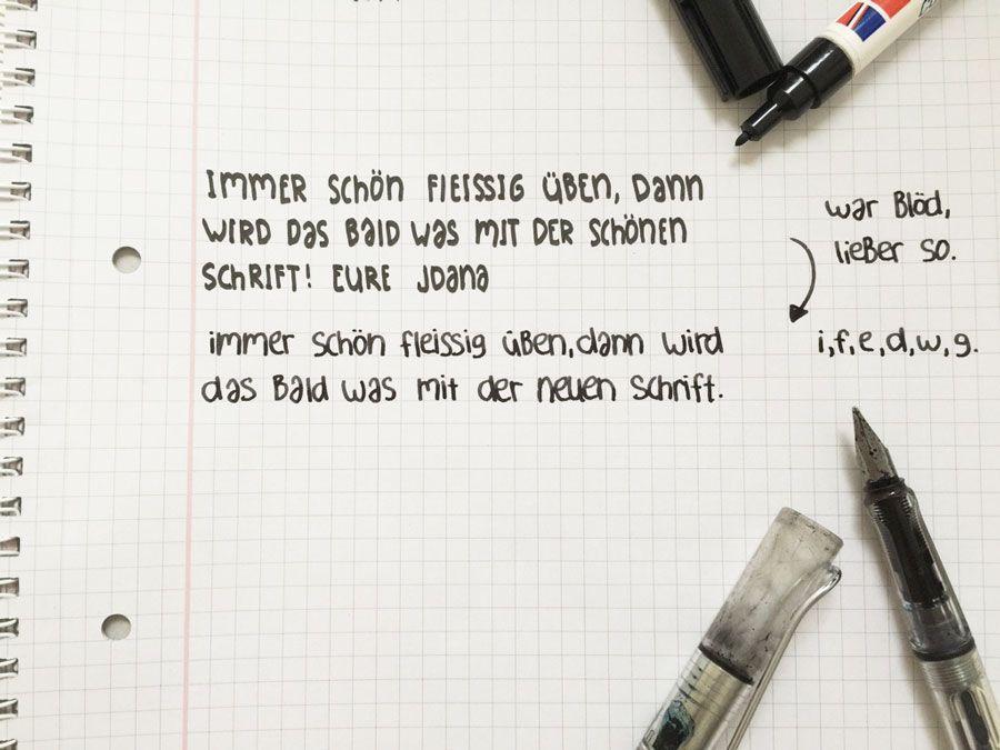 handschrift verbessern 5 tipps f r sch neres schreiben handschriften stifte und lernen. Black Bedroom Furniture Sets. Home Design Ideas