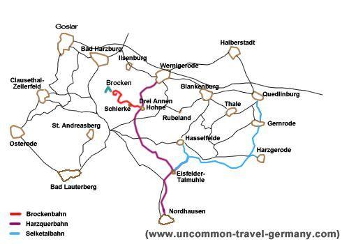 Map of Harz Steam Train Routes | Trip Ideas in 2019 | Train