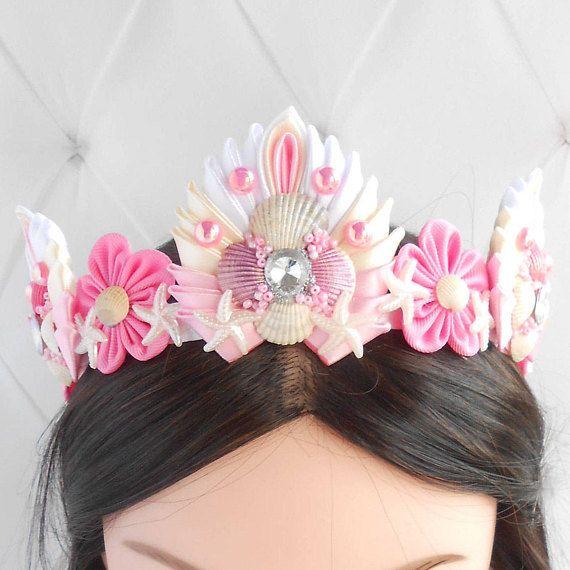 Mermaid //Ariel //Under the Sea Baby Toddler Girl Feather Headband