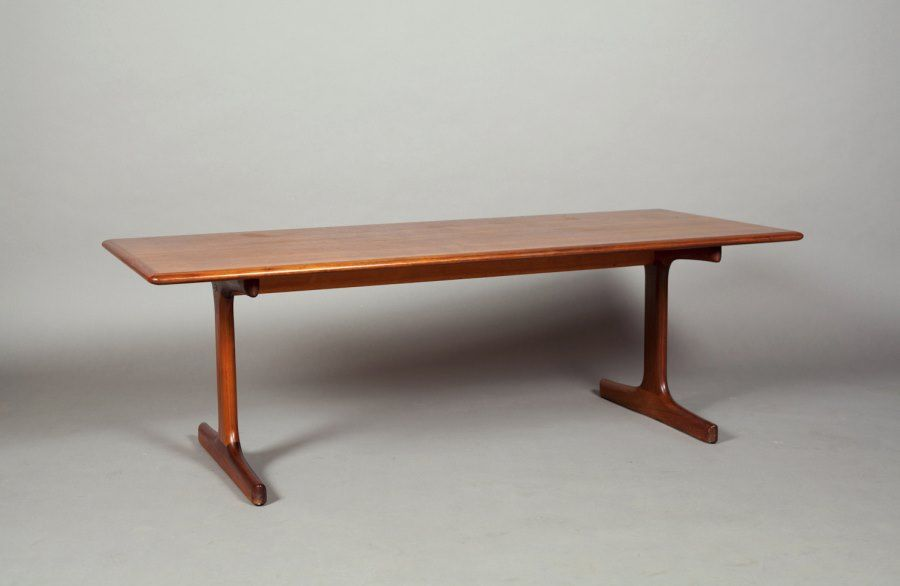 Vintage Wooden Trestle Table From Atomic Threshold Coffee Table