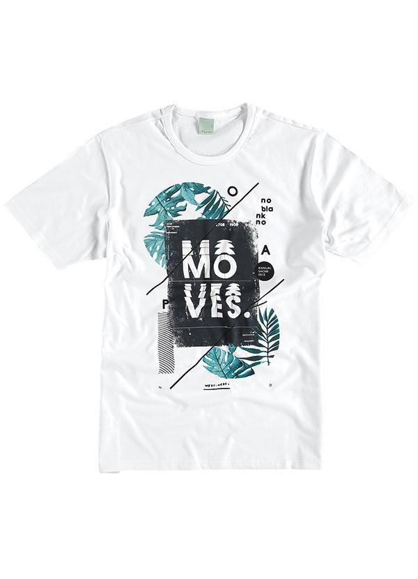 Camiseta Masculina Adulto (Branco) Malwee  9174ffe0147