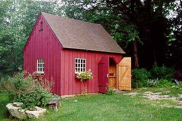 Garden sheds style post and beam carriage houses for New england shed plans