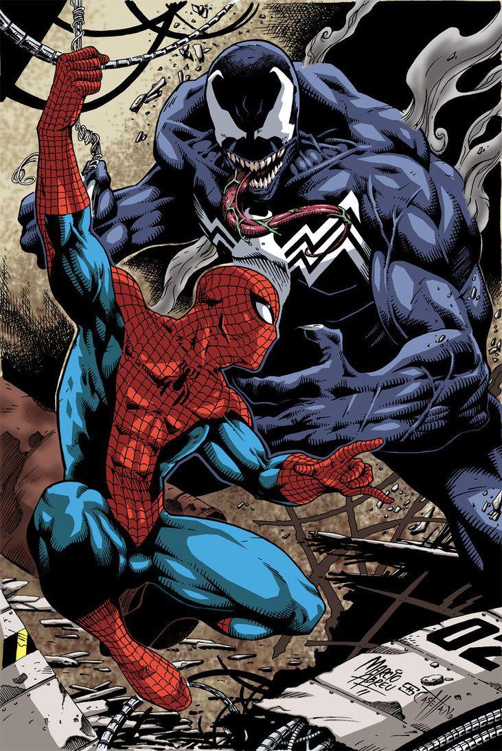 spiderman vs venomjohncastelhano on deviantart | spider man