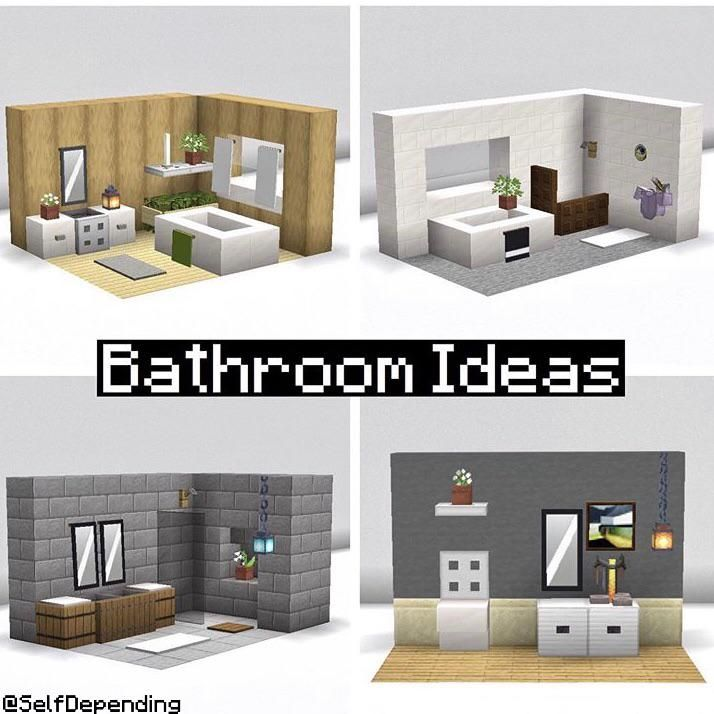 I made a few bathroom ideas that you can use in your house
