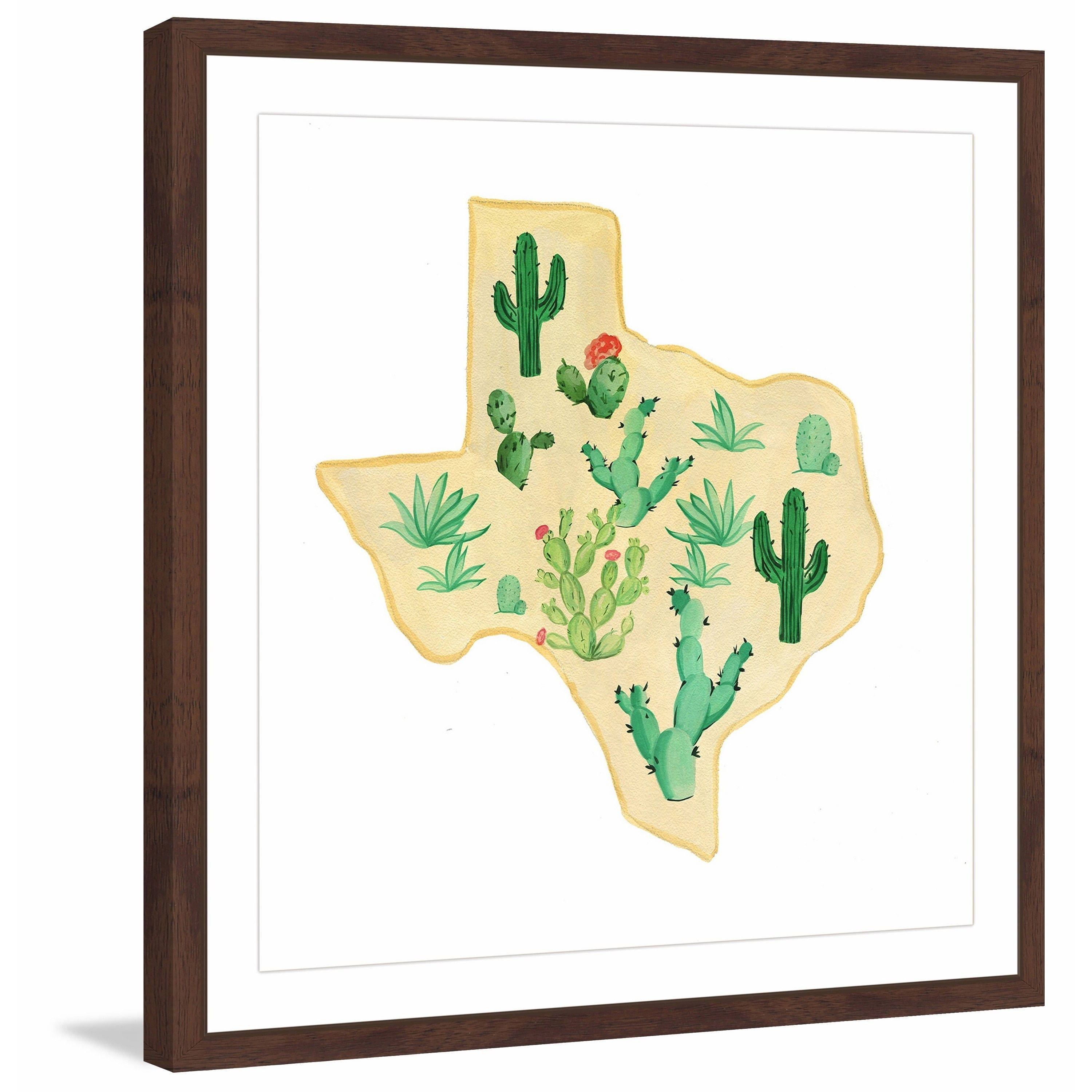 Marmont Hill - \'Texas Cactus\' Framed Painting Print | Products ...