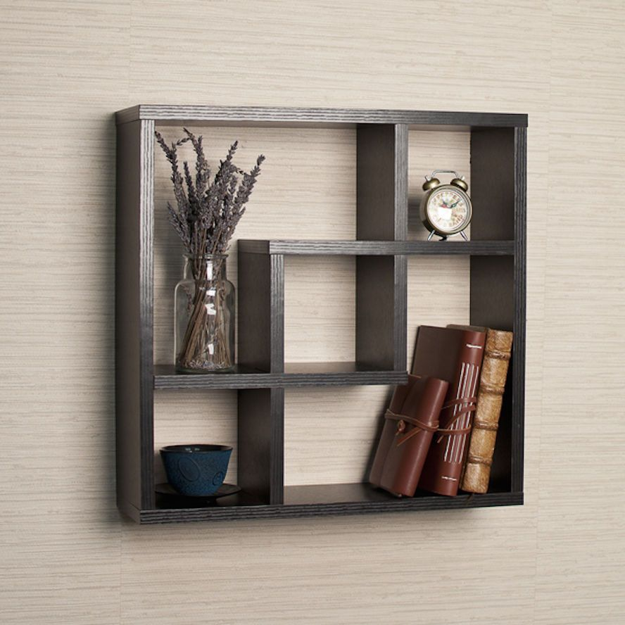 Wall Shelves And Ledges Unit Knick Knack Display Cubby Square Black 5 Openings Unbranded Traditional Wall Shelf Decor Diy Wall Shelves Floating Shelves