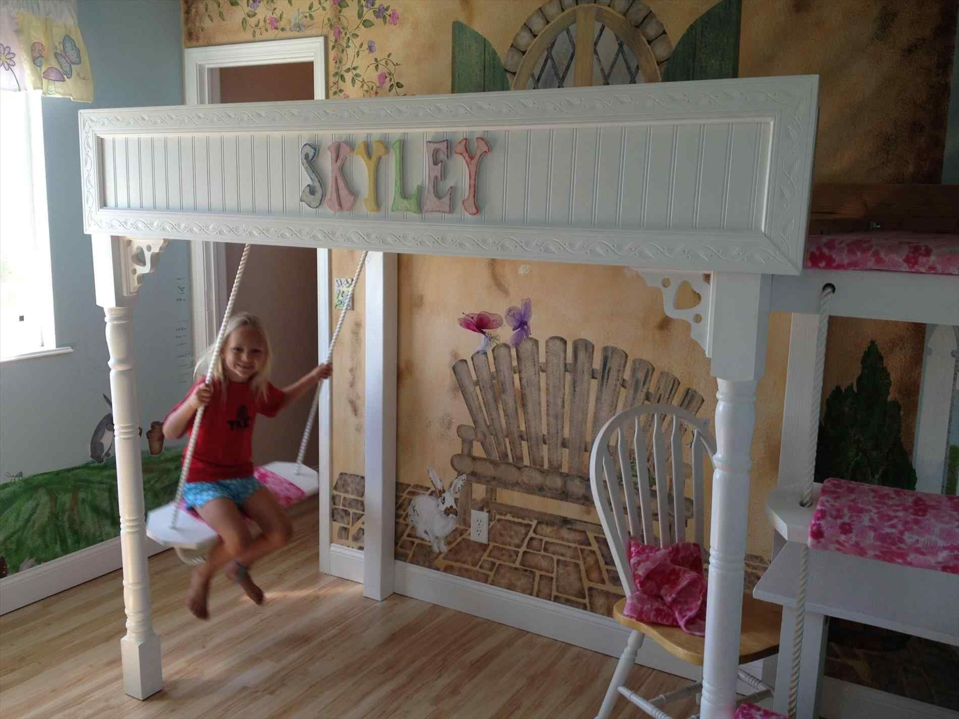 Top and Wonderful Bunk Bed With Swing Ideas Kids bunk