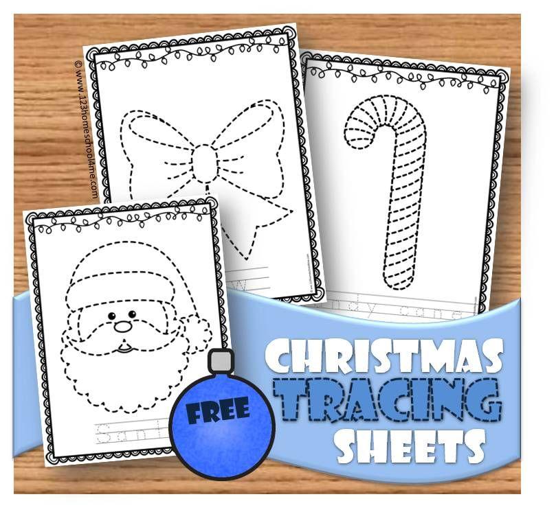 Christmas Tracing Sheets Braden Pinterest Preschool Christmas
